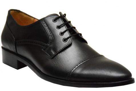 Derby Business-schuhe Lederschuhe mit Ledersohlen Brogues echtleder Schuhe Schwarz