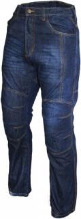 Denim Motorradjeans Motorradhose Futter aus Aramidfasern Jeans inkl. Protektoren Blau