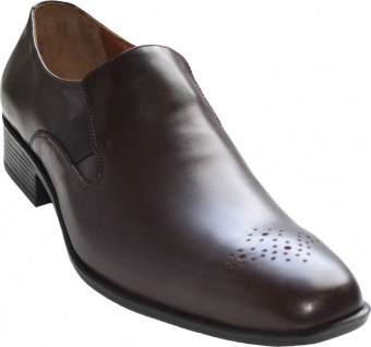 German Wear, Business-schuhe Halbschuhe Lederschuhe Glattleder/Rindsleder braun