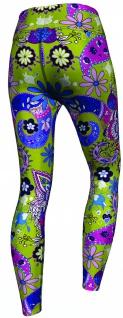 Paisley Floral Leggings sehr dehnbar für Sport, Gymnastik, Training, Tanzen & Freizeit - Vorschau 3