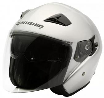 Marushin M-610 Motorrad Helm Jethelm Sonnenblende sportliche Tourenfahrer - Vorschau 2