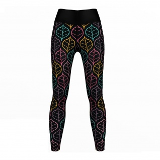 Art Leaves Leggings sehr dehnbar Sport Yoga Gymnastik Training Tanzen Freizeit