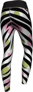 Zebra Leggings sehr dehnbar für Sport, Yoga, Gymnastik, Training, Tanzen & Freizeit schwarz/weiß/grün/rosa - Vorschau 2