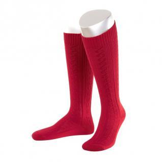 Lange Damen Trachtensocken Trachtenstrümpfe Zopf Socken Rot