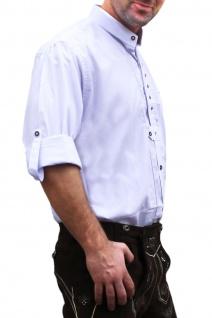 Trachtenhemd Hemd aus 100% Baumwolle Edelweiß bestickt - Vorschau 2