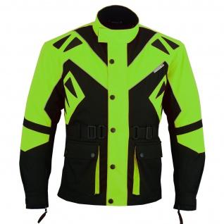 Motorradjacke Cordura Textilien Grün/Schwarz