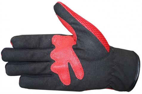 RadMasters, Motocross Motorradhandschuhe Biker Handschuhe Textilhandschuhe Rot - Vorschau 3