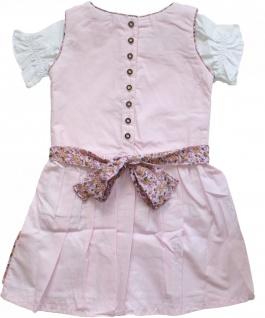 3-tlg Kinder Dirndl Mädchendirndl Dirndlbluse Dirndlschürze Kleid Rosa - Vorschau 2