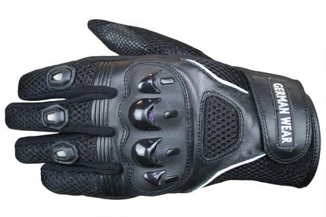 Motocross Motorradhandschuhe Biker Handschuhe Textilhandschuhe Schwarz - Vorschau 2