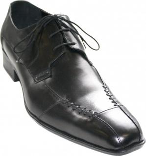 German Wear, Business-schuhe Halbschuhe Lederschuhe Rindsleder Schuhe schwarz