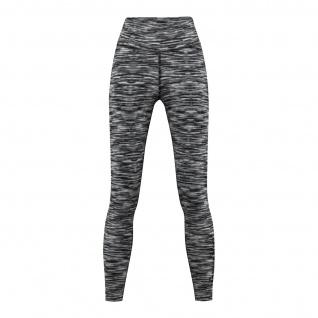 Leggings dehnbar Fitness Sport Yoga Gymnastik Training Tanzen Freizeit weiß\schwarz melange