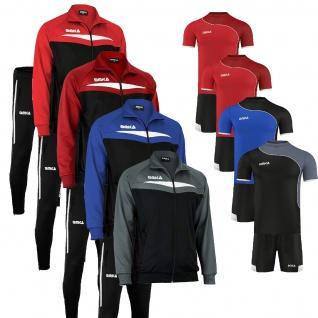 OMKA Trainingsanzug 4er Set Jacke + Hose + Trikot + Short Jogginganzug Freizeitanzug