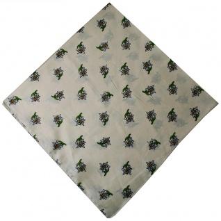 Trachtentuch Halstuch mit Edelweissmuster Nikituch 60x60