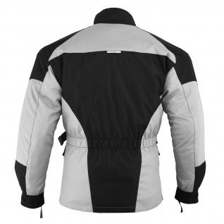 Motorradjacke Textilien Schwarz/Hellgrau - Vorschau 4