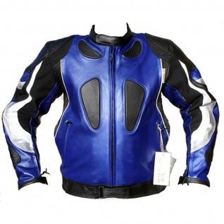 German Wear, Motorrad Lederjacke Motorradjacke biker/kombi jacke Rindsleder Blau