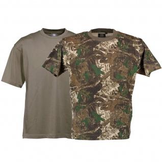 2er Pack Jagd T-Shirt für Trachten lederhosen Waldtarn und Oliv