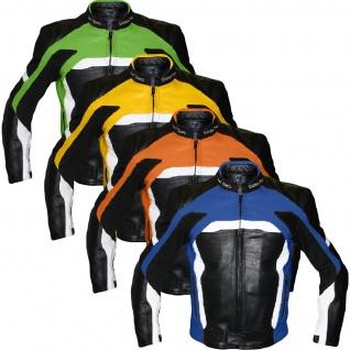 Motorradjacke Lederjacke Biker lederjacke Büffelleder - Vorschau 4