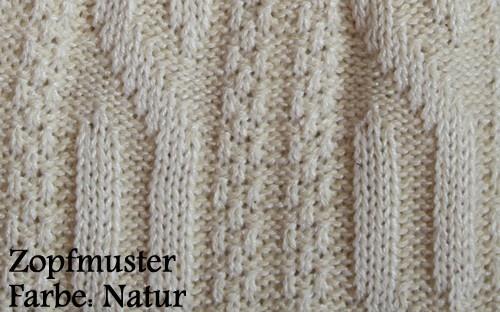 Kurze Trachtensocken Trachtenstrümpfe Zopfmuster Socken 44cm Natur - Vorschau 3