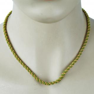 German Wear, Trachtenkordel Kordel Kette Anhänger Metall grün gold Trachten Tracht