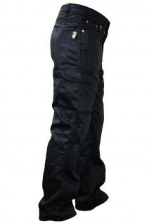 GermanWear® Motorradhose Motorradjeans, Futter aus Kevlar® stoff Cargohose mit Protektoren schwarz - Vorschau 3
