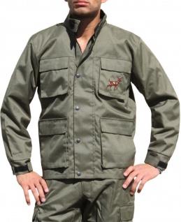 Jagdjacke Jacke Textilien in Jagdgrün mit Hirsch Stickerei