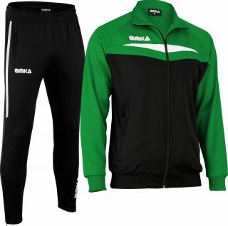 OMKA Trainingsanzug Sportanzug Jogginganzug Freizeitanzug Grün