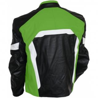 Motorradjacke Lederjacke Biker lederjacke Büffelleder - Vorschau 3