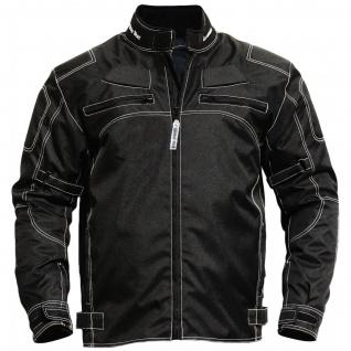 Motorradjacke textilien Kombi Jacke schwarz