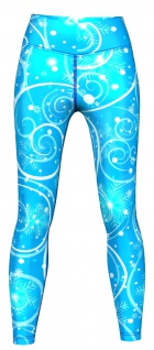 Galaxy Leggings sehr dehnbar für Sport, Yoga, Gymnastik, Training & Fashion Blau