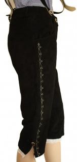 Damen Trachten lederhose Kniebundhose Damenlederhose mit Hosenträgern - Vorschau 2