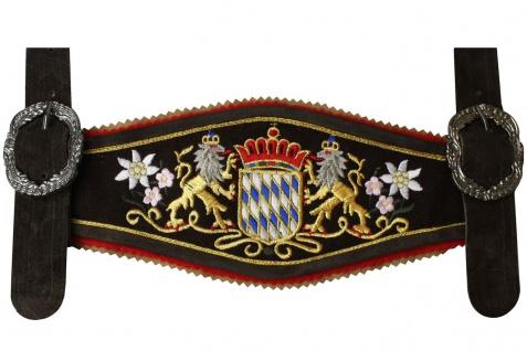 GermanWear, Hosenträger für Trachten Lederhosen mit Bayerischem Wappen-stickerei