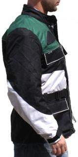 Textilien Jacke Motorradjacke Kombigeeignet Schwarz/Grün - Vorschau 3