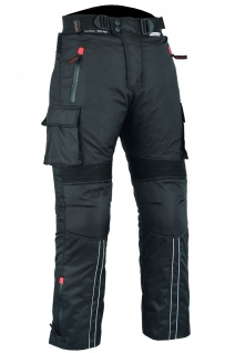 BULLDT Motorradhose Cargo Textilhose Cargohose Schwarz