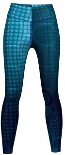 Blue Galaxy Texture Leggings sehr dehnbar für Sport, Yoga, Gymnastik, Training, Tanzen & Freizeit
