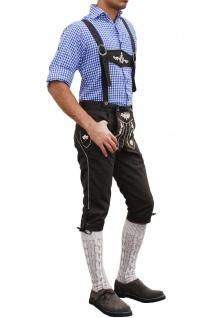 Trachten Kniebundhose Oktoberfest Jeans Hose mit Hosenträgern Schwarz - Vorschau 2