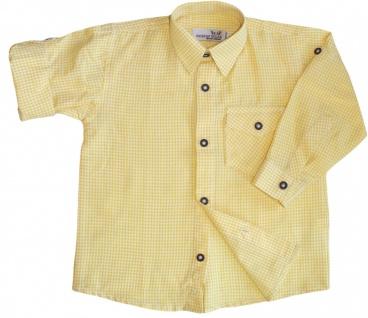 Kinder Trachtenhemd knaben Trachtenlederhosen Gelb-karo