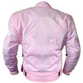 Damen Motorradjacke Textilien Jacke Kombigeeignet Rosa - Vorschau 2