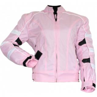 Damen Motorradjacke Textilien Jacke Kombigeeignet Rosa
