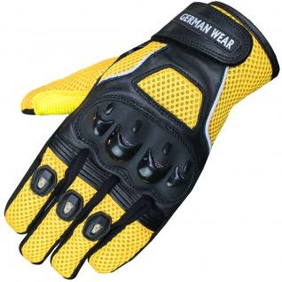 Motocross Motorradhandschuhe Biker Handschuhe Textilhandschuhe Gelb