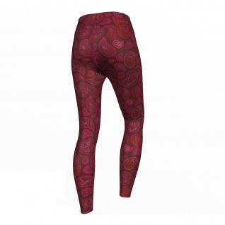 Pink Paisley Leggings sehr dehnbar Sport Yoga Gymnastik Training Tanzen Freizeit - Vorschau 3