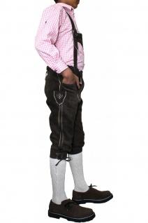 Jungen Kniebundhosen Leder Trachtenhose mit Hosenträgern - Vorschau 3