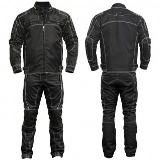 2-teiler Motorradkombi Cordura Textilien Motorradjacke & Motorradhose Schwarz
