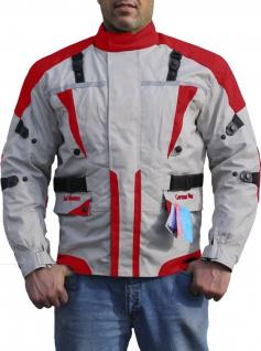 German Wear, Textilien Jacke Motorradjacke Kombigeeignet Rot/Anthrazit