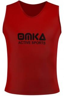 OMKA Fußball Leibchen Trainingsleibchen Markierungshemd Fußballleibchen Rot
