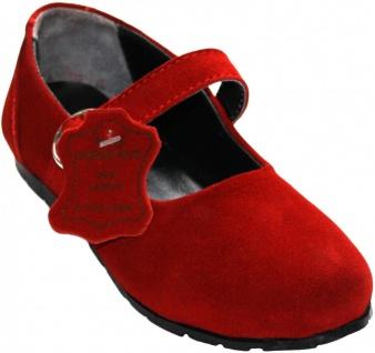 German German Wear, Mädchen Kinder Bayerische Trachtenschuhe Ballerina Spangenschuhe Rot