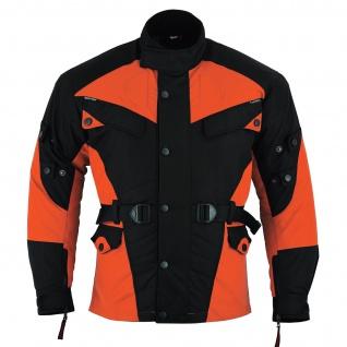 Motorradjacke Cordura Textilien Orange/Schwarz