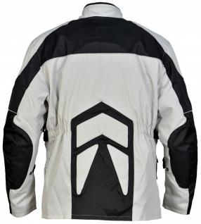 Motorrad-Jacke Motorradjacke Textilien Kombigeeignet Grau/Schwarz - Vorschau 2