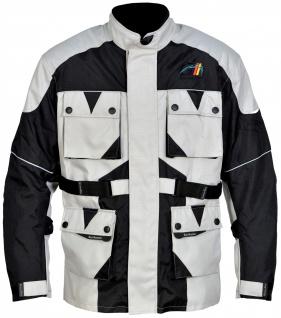 Motorrad-Jacke Motorradjacke Textilien Kombigeeignet Grau/Schwarz