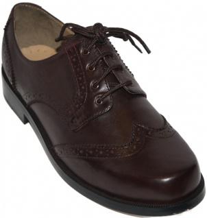 Business Schuhe Brogue mit Ledersohlen echtleder Braun