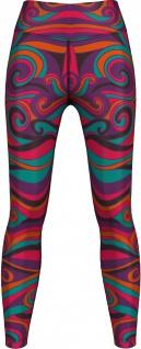 German Wear, Leggings Tights dehnbar Sport Gymnastik Training Tanzen Freizeit Yoga Batik lila/pink/orange